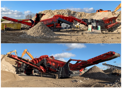 Sandvik,MOBILE, CONCASSEUR, PERCUSSION, QI441, SCALPEUR, QE441